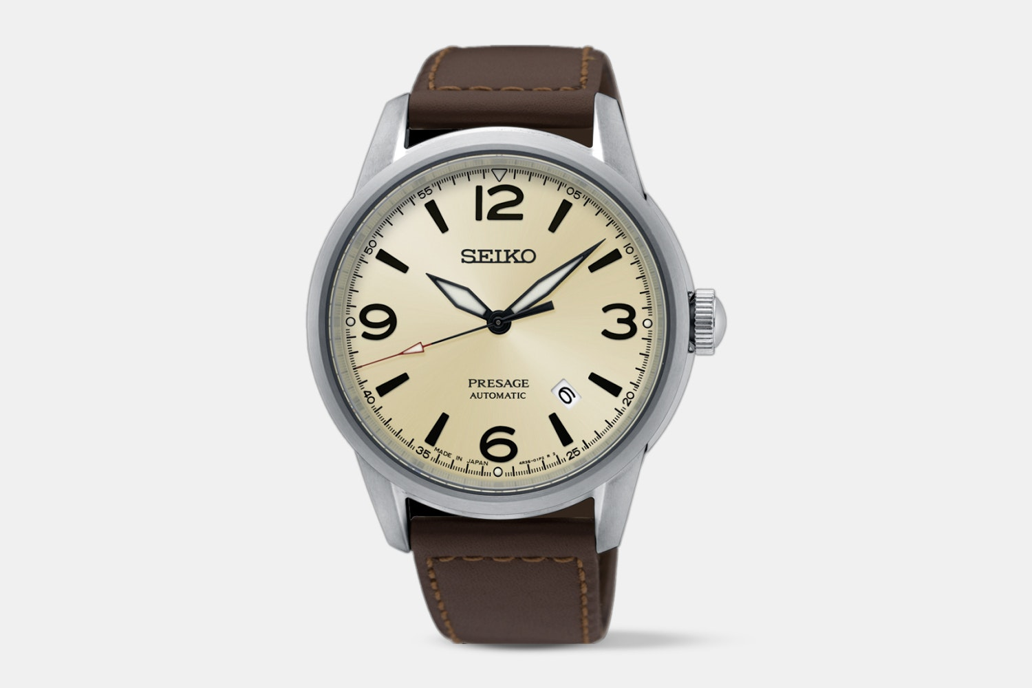 SRPB63J1 (beige dial, brown leather strap)