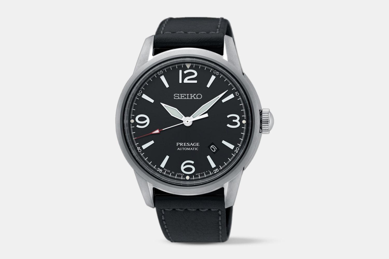 SRPB67J1 (black dial, black leather strap)
