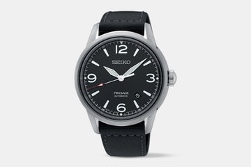 SRPB67J1 (black dial, black leather strap)