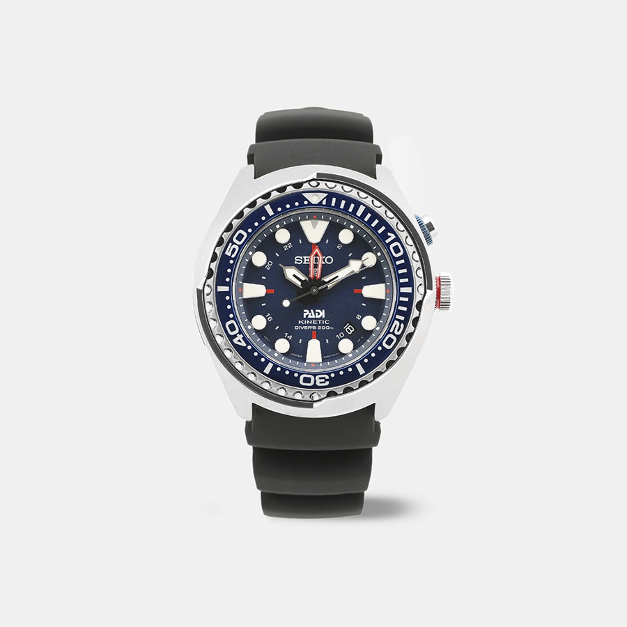 "Seiko Prospex GMT ""PADI"" SUN065 Kinetic Watch"