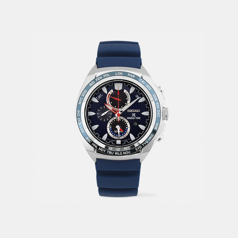 Seiko Prospex World Time Solar Chronograph Watch