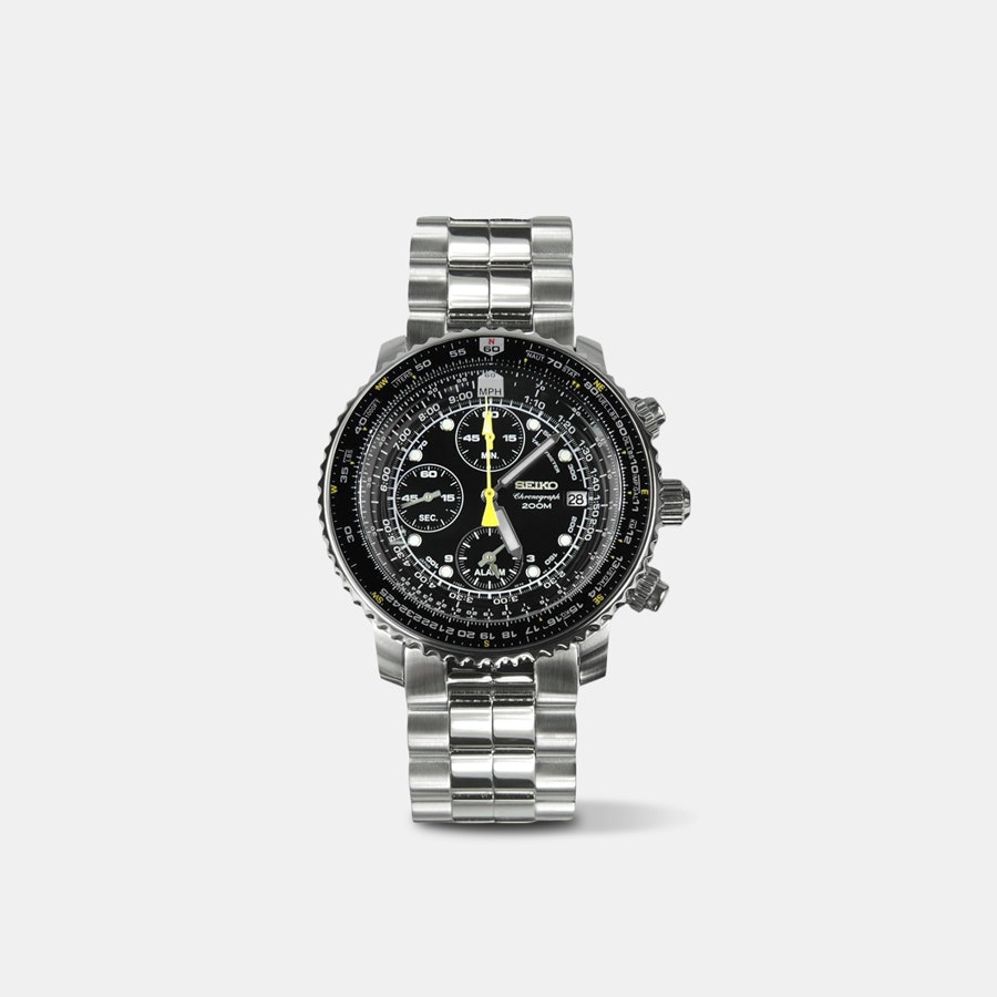 Seiko SNA Flight Alarm Chronograph Watch