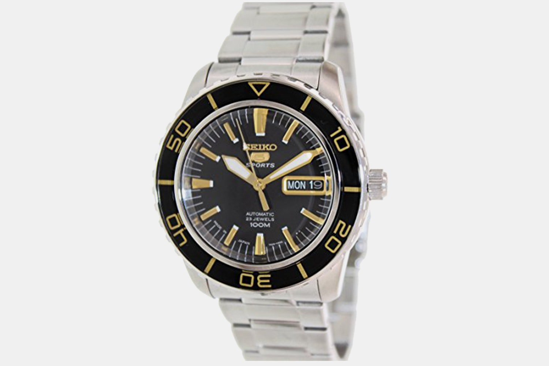 Black & Gold Dial, Black & Gold Bezel SNZH57J1