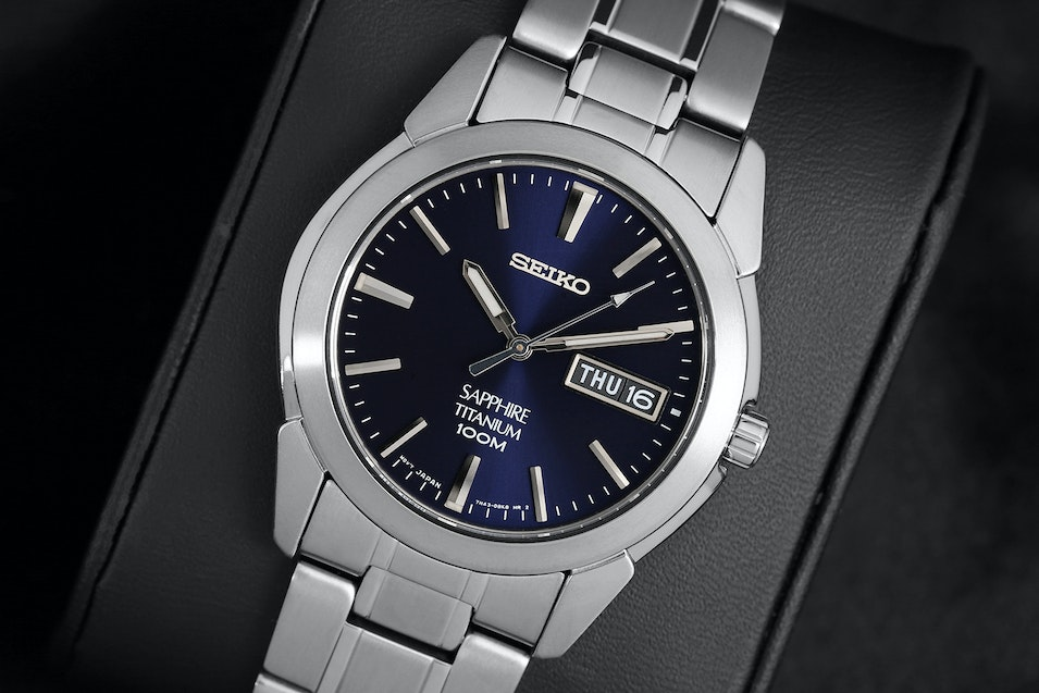 mens seiko titanium quartz buy watch watches