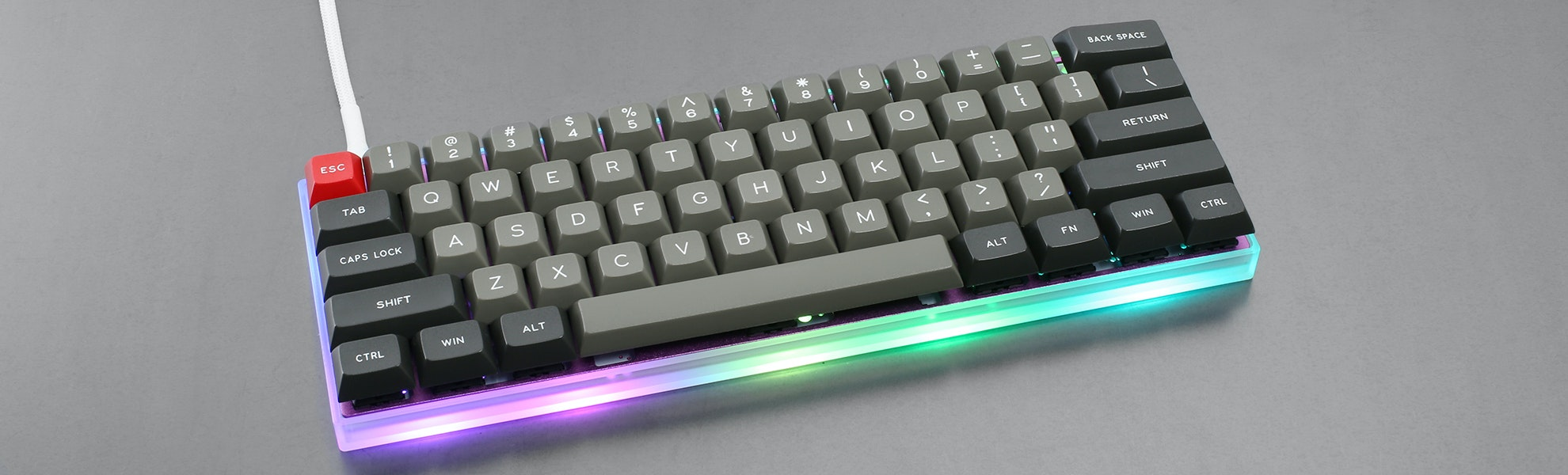 Sentraq Acrylic 60% Keyboard Case