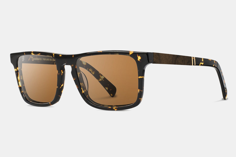 Dark Speckle Frame w/ Brown Polarized Lenses