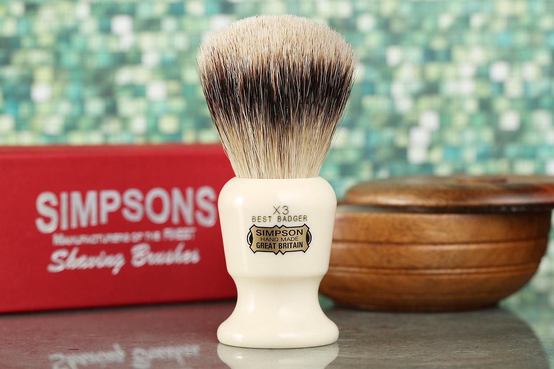 Simpson Commodore X3 Best Badger Shaving Brush