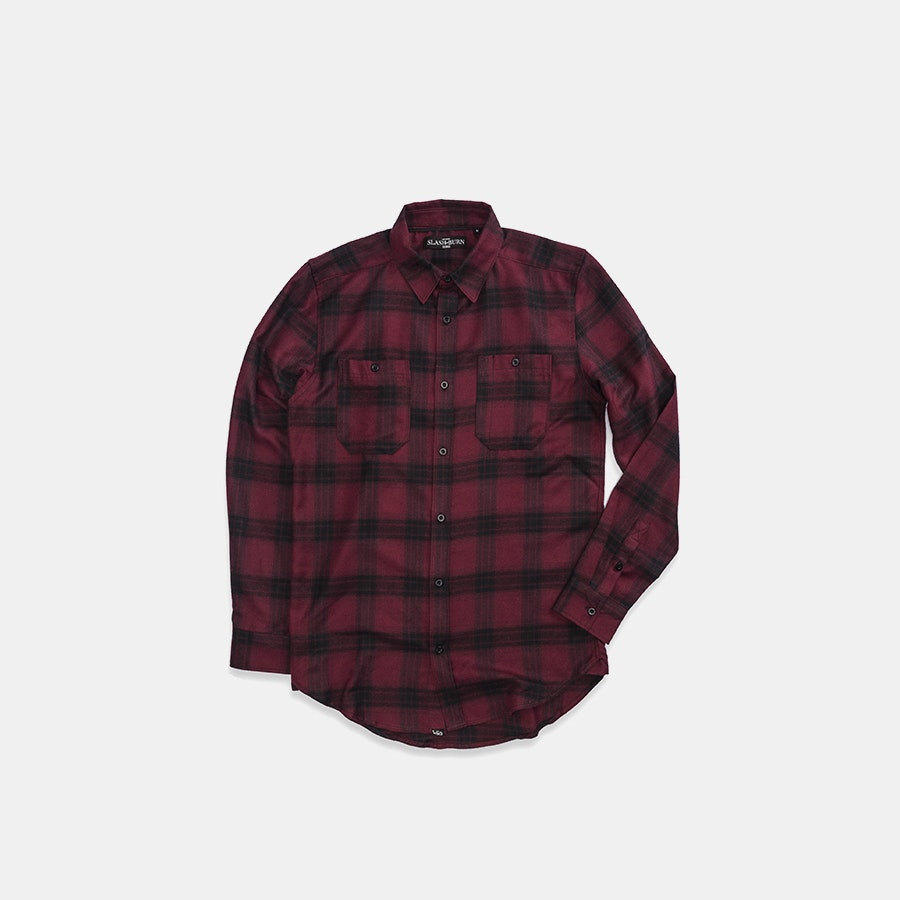 Slash and Burn Co. Brushed Long-Sleeve Woven Shirts