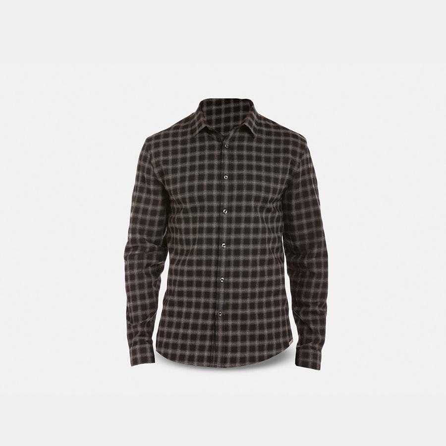 Slate Denim Brushed Twill LS Shirts