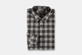 LS Brush Twill Plaid - Slate (+ $5)