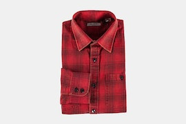 LS Brushed Twill Plaid - Red (+ $5)