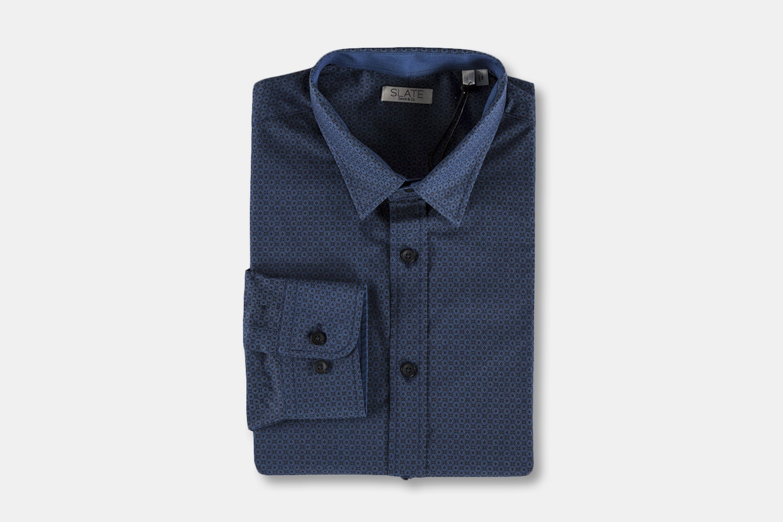 Men's LS Ditsy Floral Print - Blue