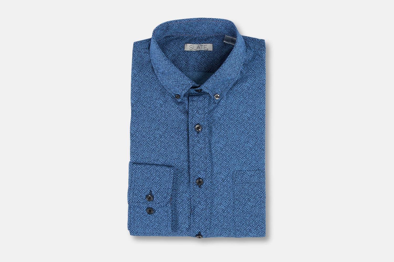 "Rock And Roll ""Slate"" Poplin Dot Print Shirt - Slate"