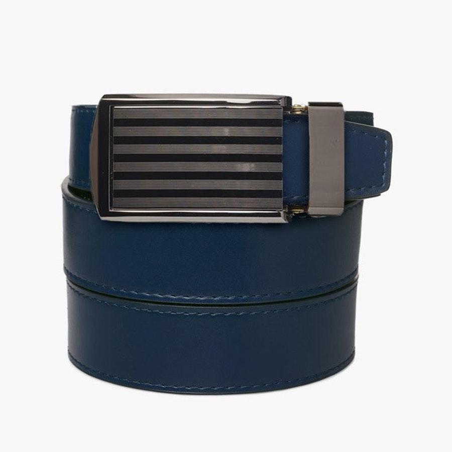 Blue Leather – Pinstripe