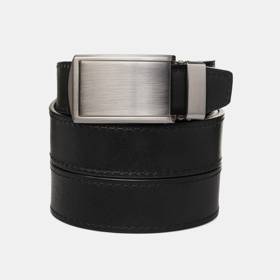Black Top Grain – Silver Buckle