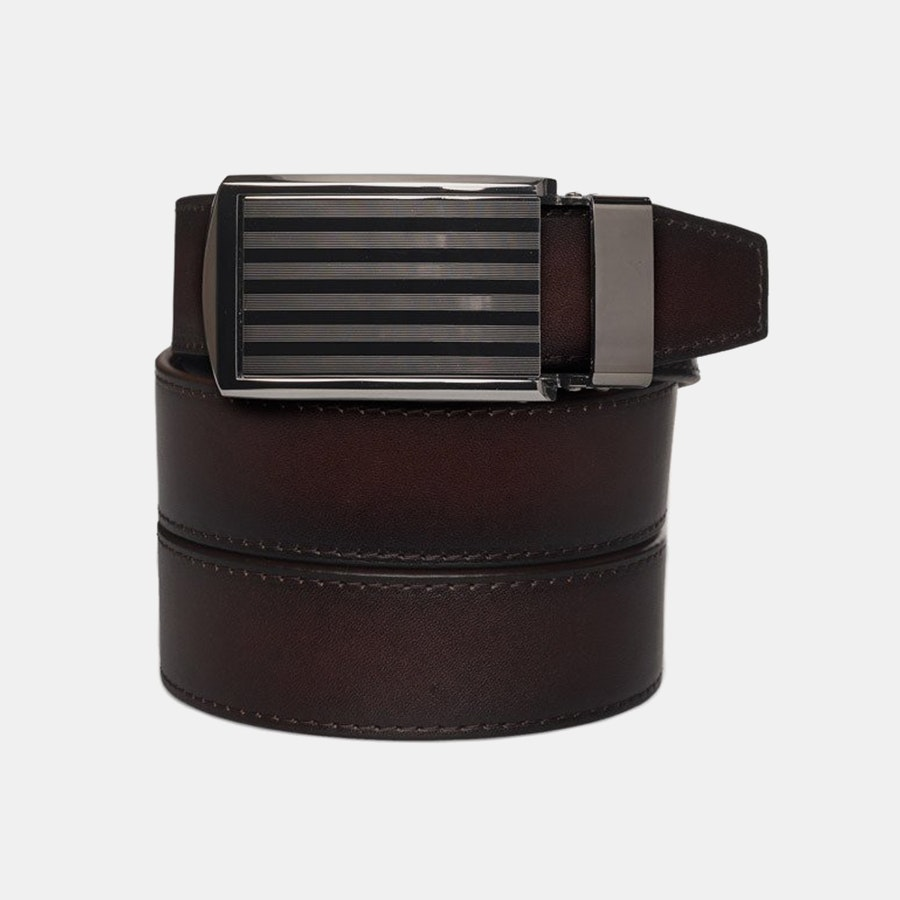 Mahogany Full Grain – Pinstripe Buckle (+ $30)
