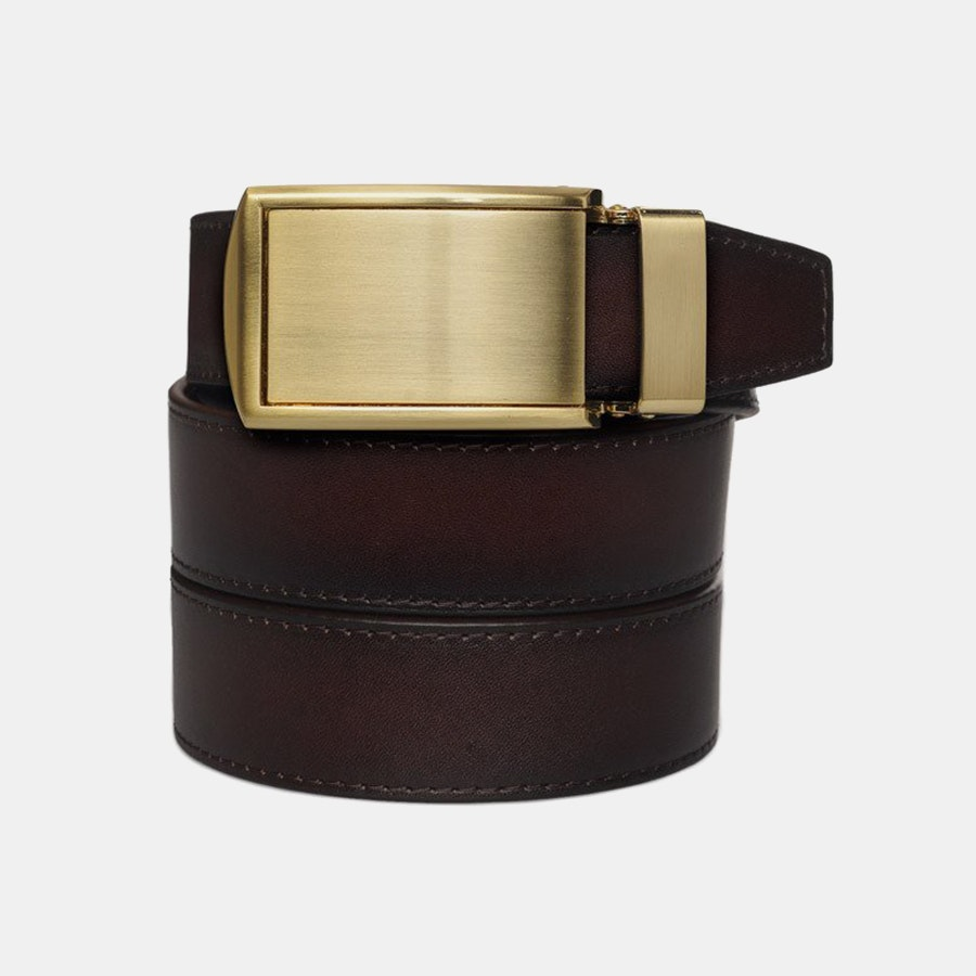 Mahogany Full Grain – Gold Buckle (+ $30)