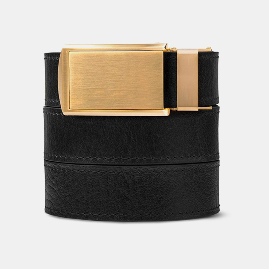 Black Top Grain – Gold Buckle