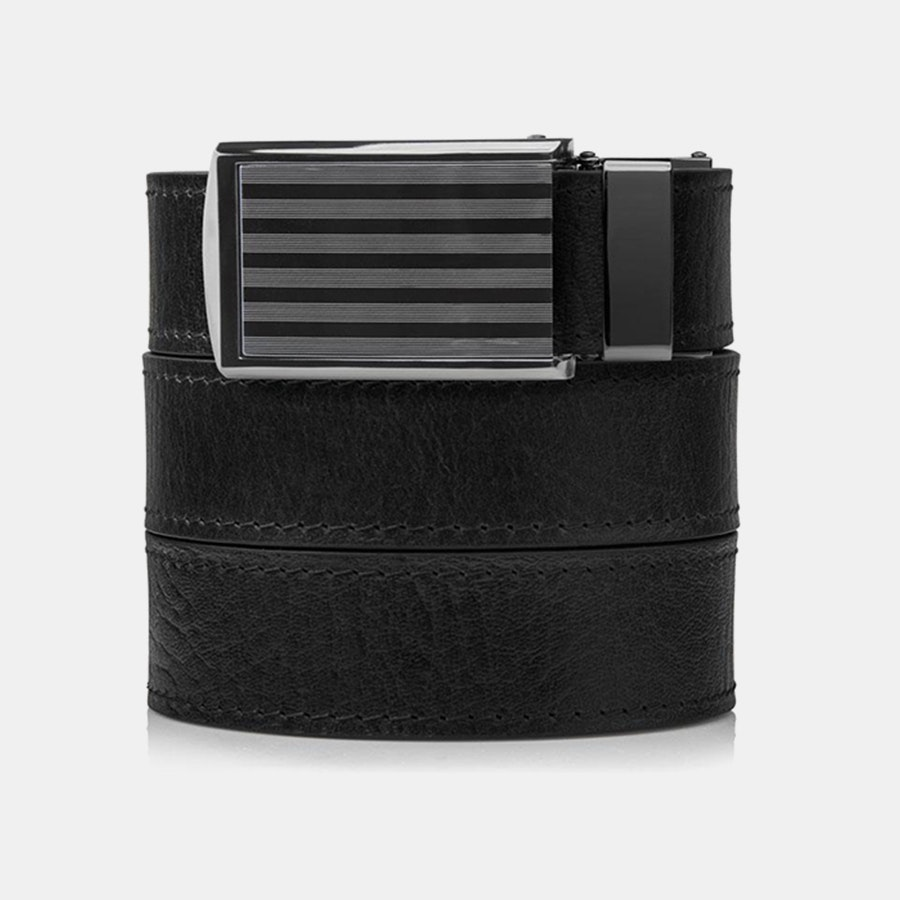 Black Top Grain – Bar Buckle