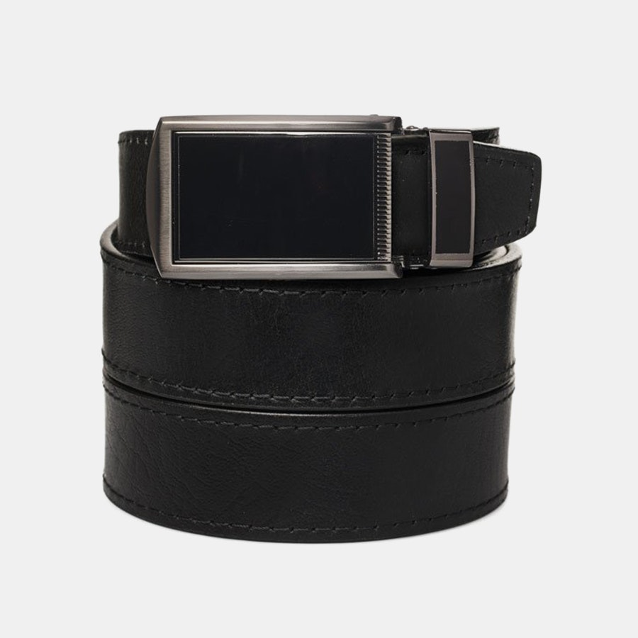 Black Top Grain – Black Buckle