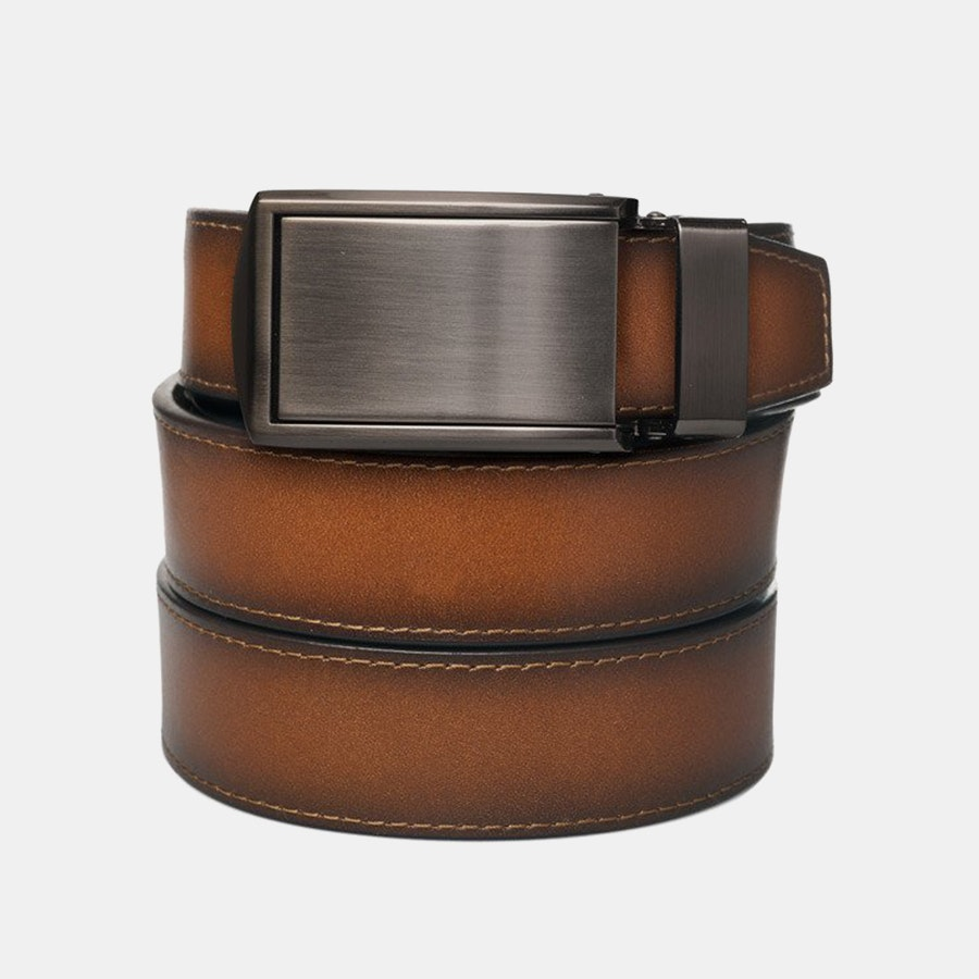 Cognac Full Grain – Gunmetal Buckle (+ $30)