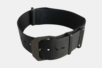Black Nylon Strap, Black Buckle