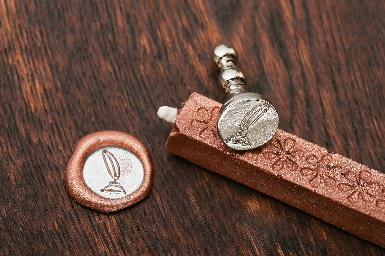 Small Decorative Wax Seal & Ink Pad Set
