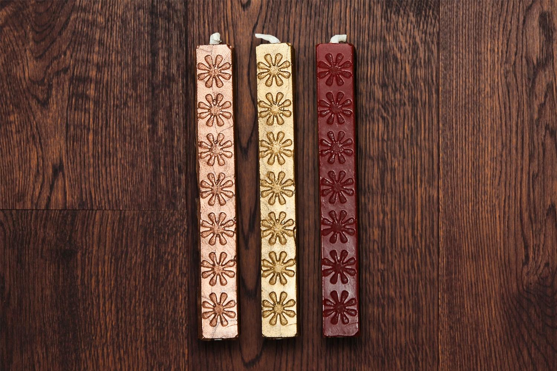 Gold, Cranberry, Copper