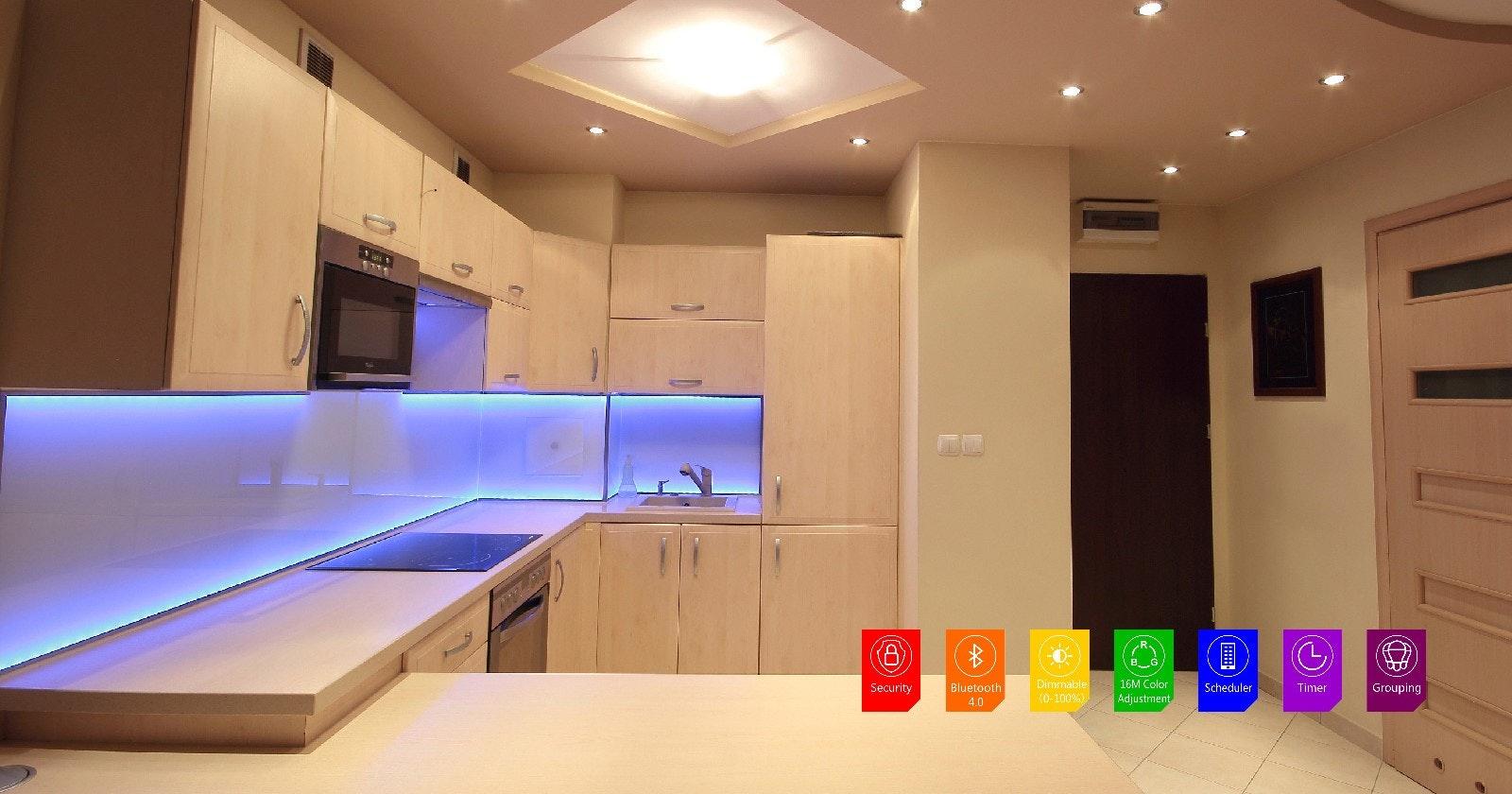 Smart led rgb bluetooth strip accent lighting