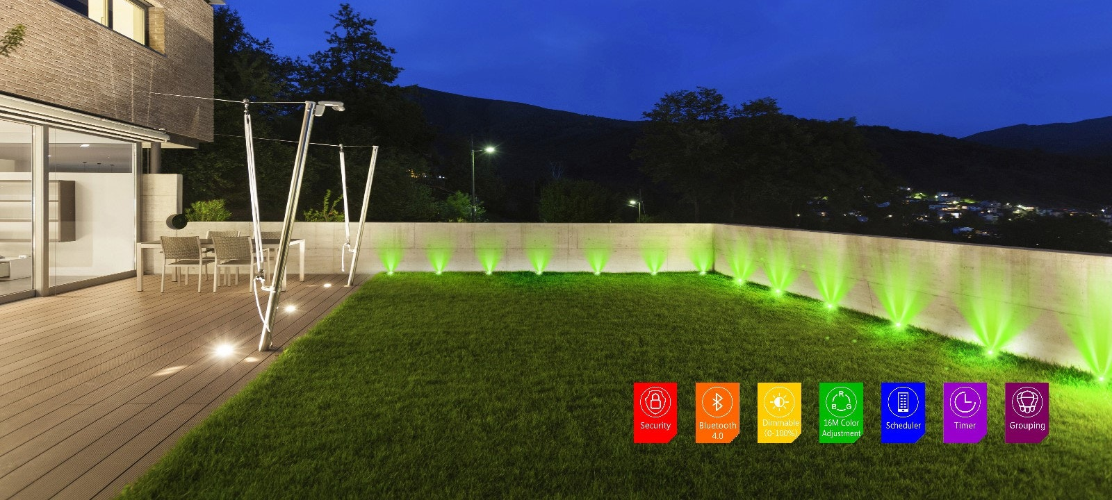 Smart LED RGB Bluetooth Walkway Lighting