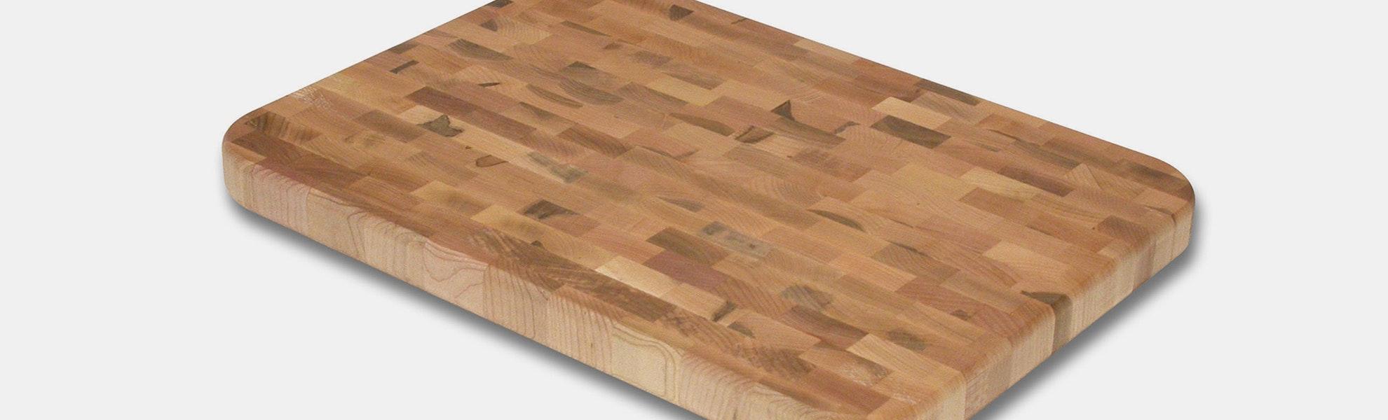 "Snow River 12"" Maple End Grain Cutting Board"