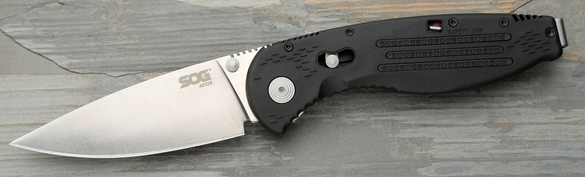 SOG Aegis Folding Knife, Assisted.