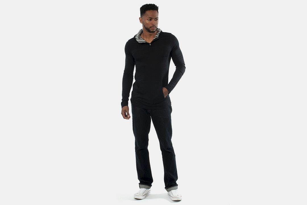 Something Strong Hooded Henley