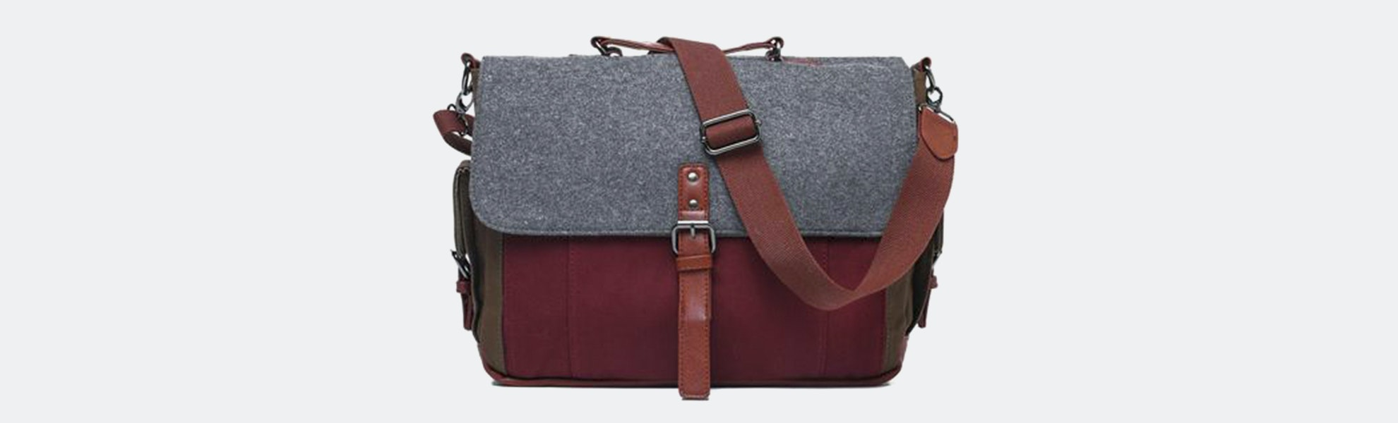 Something Strong Tricolor Canvas Messenger Bag