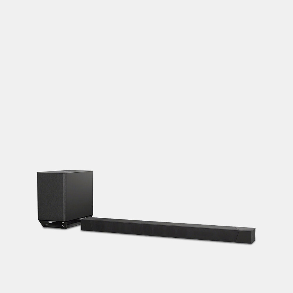 Sony 7.1.2ch Dolby Atmos DTSX TM Soundbar HT-ST5000 Hi-Res Audio in a Sleek Wireless Build -- Crafted for premium sound--which Sony has come to be known for--this wireless soundbar offers Hi-Res Audio to give you immersive audio like you've never heard before. When sound is compressed, it loses lots of detail. Thanks to DSEE HX upscaling, this speaker actually restores the subtleties found in the original audio file. And it comes out with breathtaking realism with 360-degree surround sound. S-Force PRO technology creates cinematic audio to bolster your favorite flicks. ClearAudio+ automatically switches settings to suit your needs, whether you're gaming, watching, or listening. The system won't look out of place beneath your screen, either: In fact, it's slim and sleek build is specifically designed to complement your TV. Finally, the soundbar works with Google Home, Bluetooth, and allows you to stream directly through it.