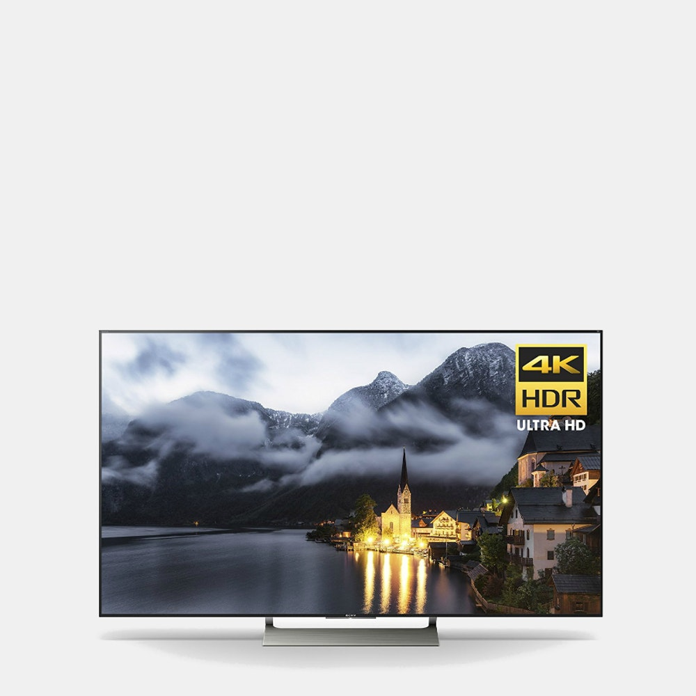 Sony 65  X900E 4K Ultra HDR Smart TV Stunning 4K Resolution, Ultra-Slim Profile -- With plenty of smart features packed in an ultra-slim profile, the Sony 65-inch 4K Ultra HDR Smart TV is sure to be the focal point in any room. The Sony X900E series features an LED direct-lit LCD display, which uses Sony's Motionflow XR technology to enhance fast-moving images and reduce motion blur. Built-in Wi-Fi and Ethernet give you access to thousands of apps and content via Android TV. Plus, 4K HDR processor X1 technology produces colors at higher brightness levels for natural imagery with greater depth and texture. The TRILUMINOS display selectively maps colors across a wide gamut to prevent subtle colors from oversaturating. And with 4K X-Reality PRO, parts of each scene are analyzed against an image database to render better texture, contrast, color, and more. Finally, Google Chromecast allows you to project your favorite videos and content from your personal device to the TV.