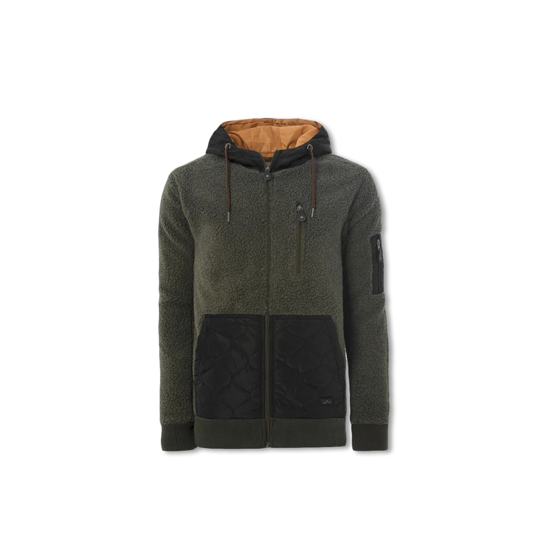 Soul Star Woolly Zip-Up Hooded Parka