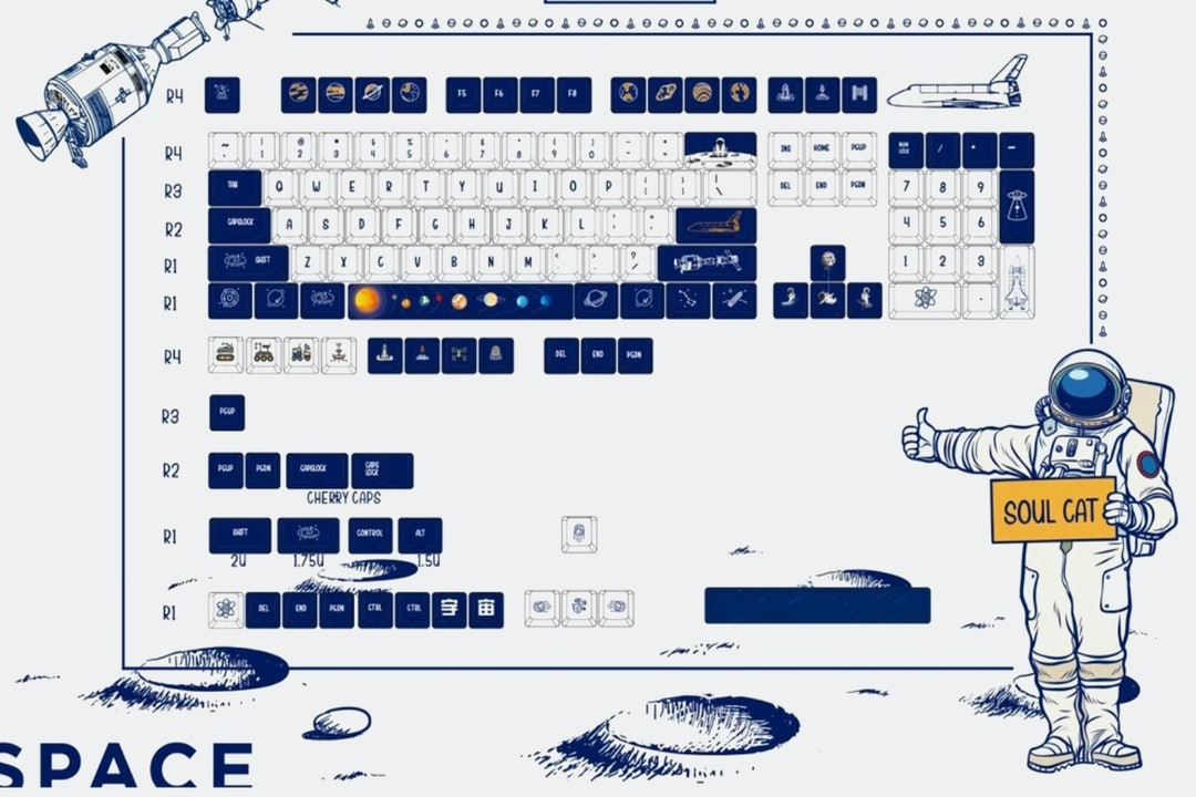 SoulCat To the Universe Dye-Subbed PBT Keycap Set