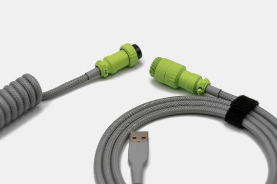 Space Cables Lime Custom Coiled Aviator USB Cable