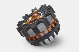 Reactor 1: Carbon - Gray With Inner Orange