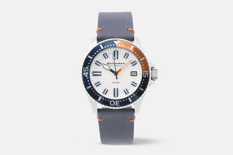 SP-5039-02 | White Dial, Blue & Orange Bezel, Blue & Orange NATO Strap