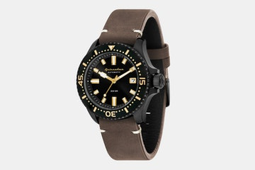 SP-5039-05 | Black Case, Black Dial, Black Bezel, Brown Leather Strap