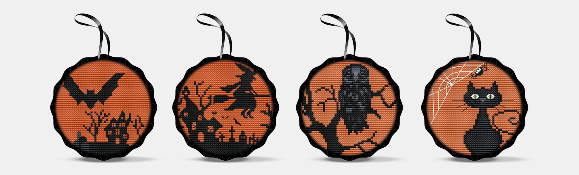Spooky Cross-Stitch Kits (4-Pack)