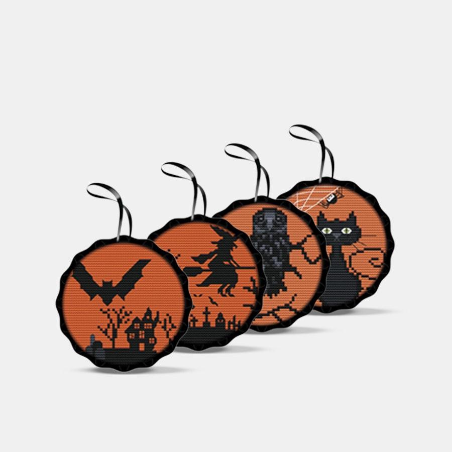 Spooky Cross-Stitch Kits (4-Pack)
