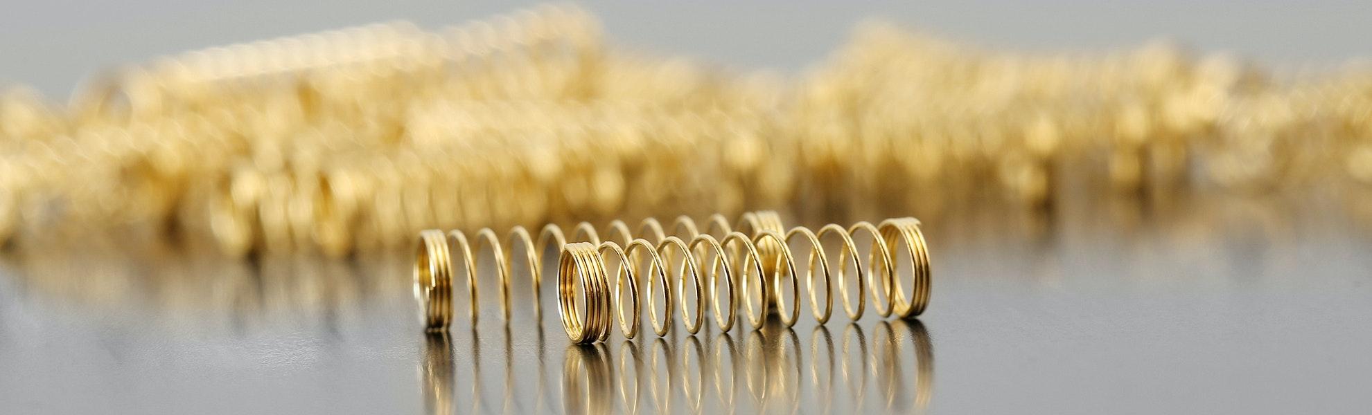 SPRiT 24K Gold-Plated Cherry MX Springs (100pcs)