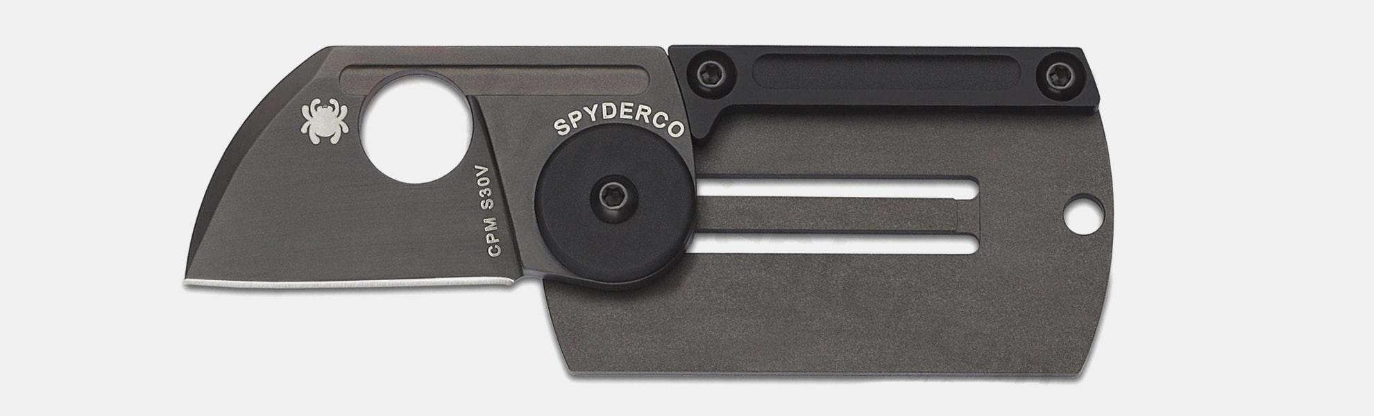 Spyderco Dog Tag Folder and JetBeam Very Tiny Light