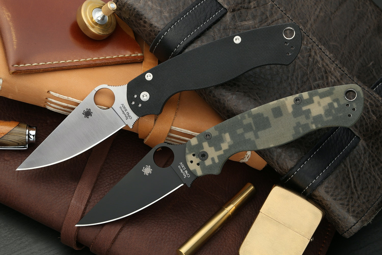 Spyderco Para Military 2 (w/Zipper Pouch)
