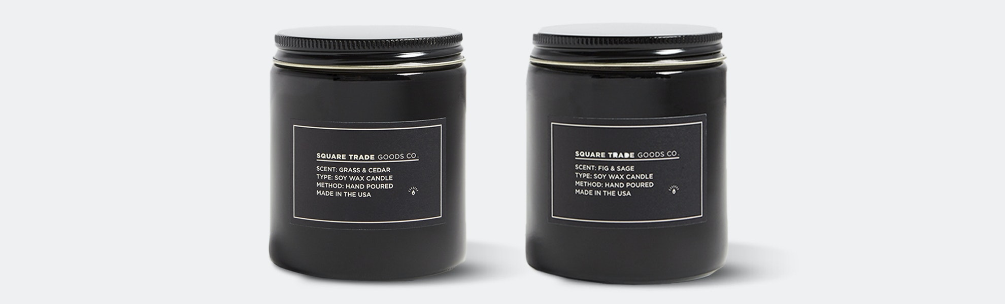 Square Trade Goods Candles (2-Pack)