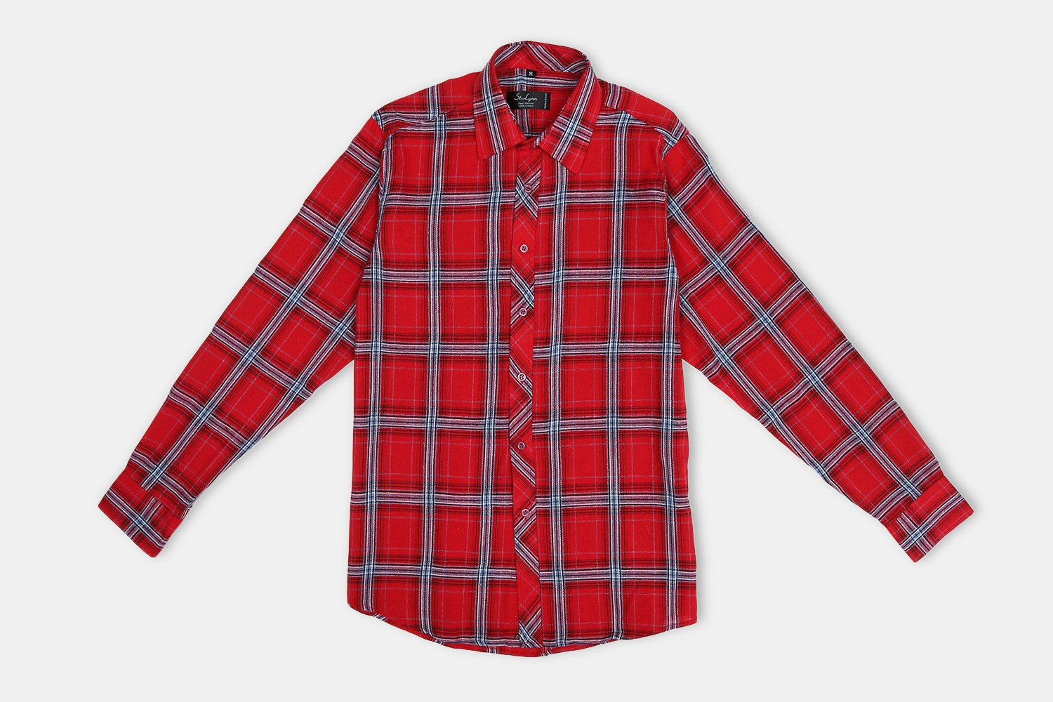 Erikson Button-UP // Red + Navy