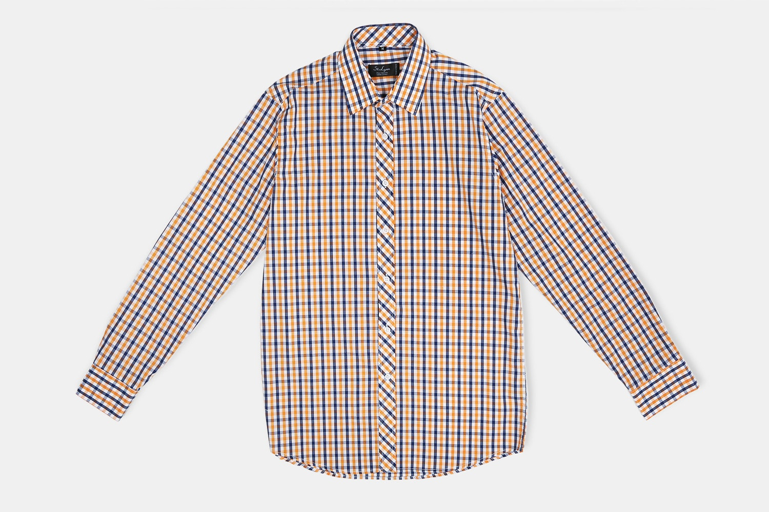 Jefferson Button-UP // Orange + Navy + White Check